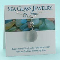 Elegant Gray Sea Glass Pendant