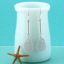 Lavender Sea Glass Earrings