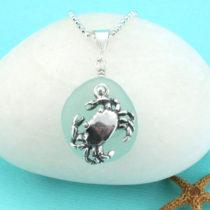 Sea Foam Green Sea Glass Necklace. Sterling Silver. Genuine Sea Glass. Ready for Fast, Free Shipping.