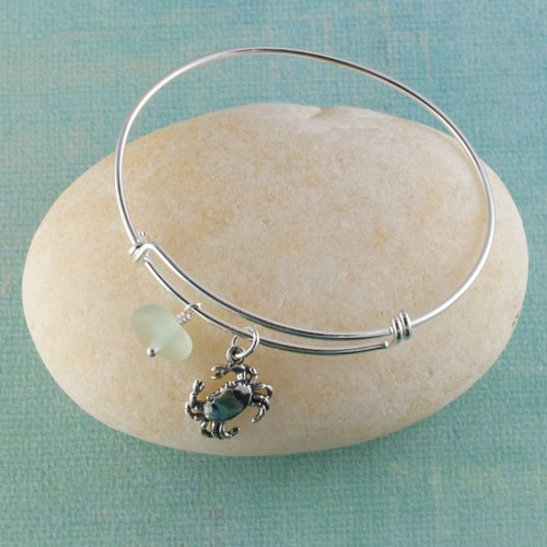Sea glass bangle bracelet best bracelet 2018 for Anchor jewelry stuart fl