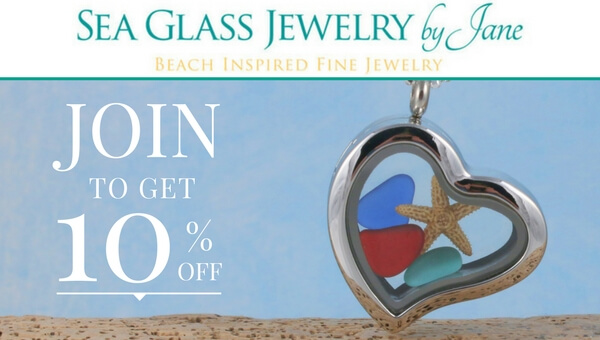 Get 10% off Sea Glass Jewelry