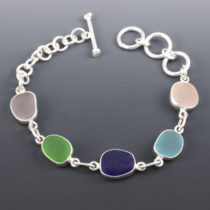 Sea Glass Bracelet Bezel Set