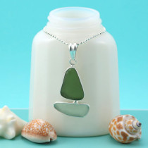 Sea Glass Necklace Sailboat. Sterling Silver Bezel Set. One of a Kind. Genuine Sea Glass. Ready for Fast, Free Shipping.