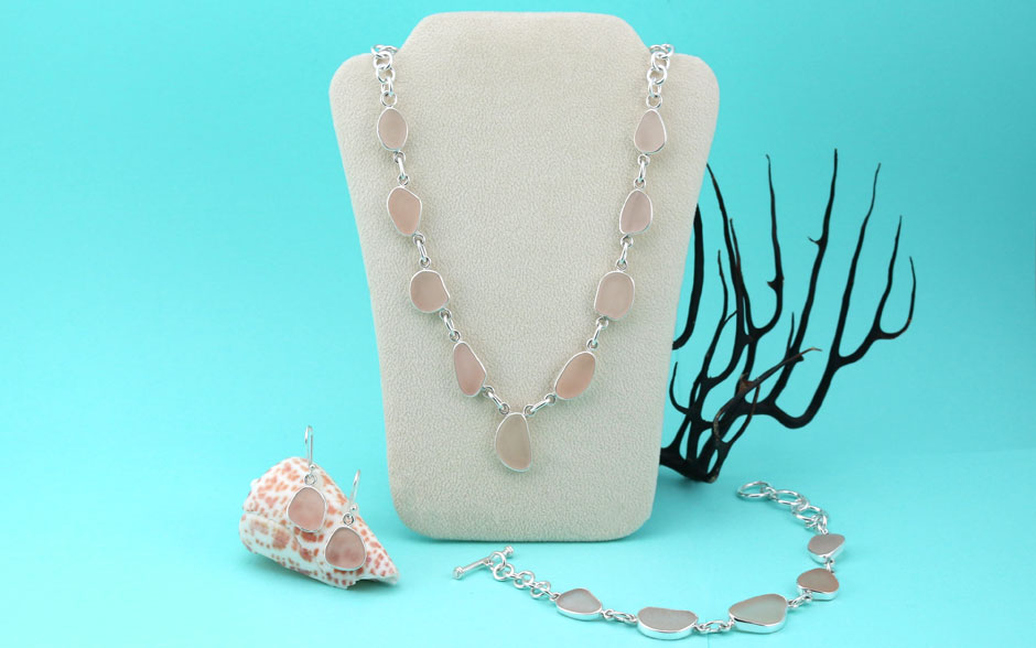 Pink Sea Glass Jewelry Collection