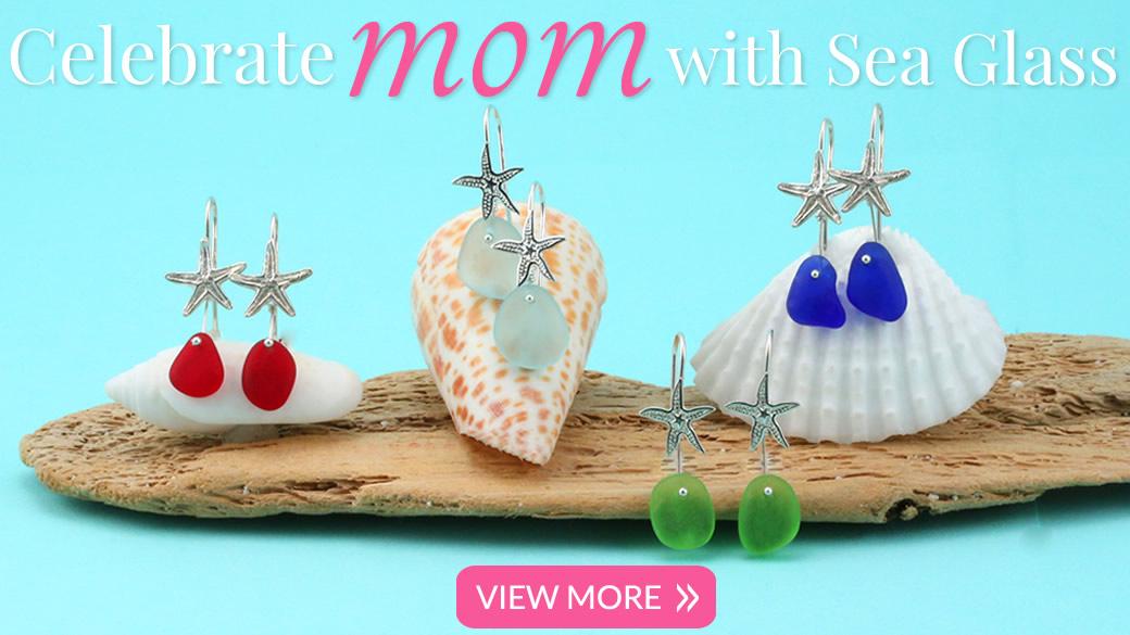 Mothers Day Sea Glass Jewelry Earrings 2016