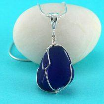 Cobalt Blue Art Glass Pendant