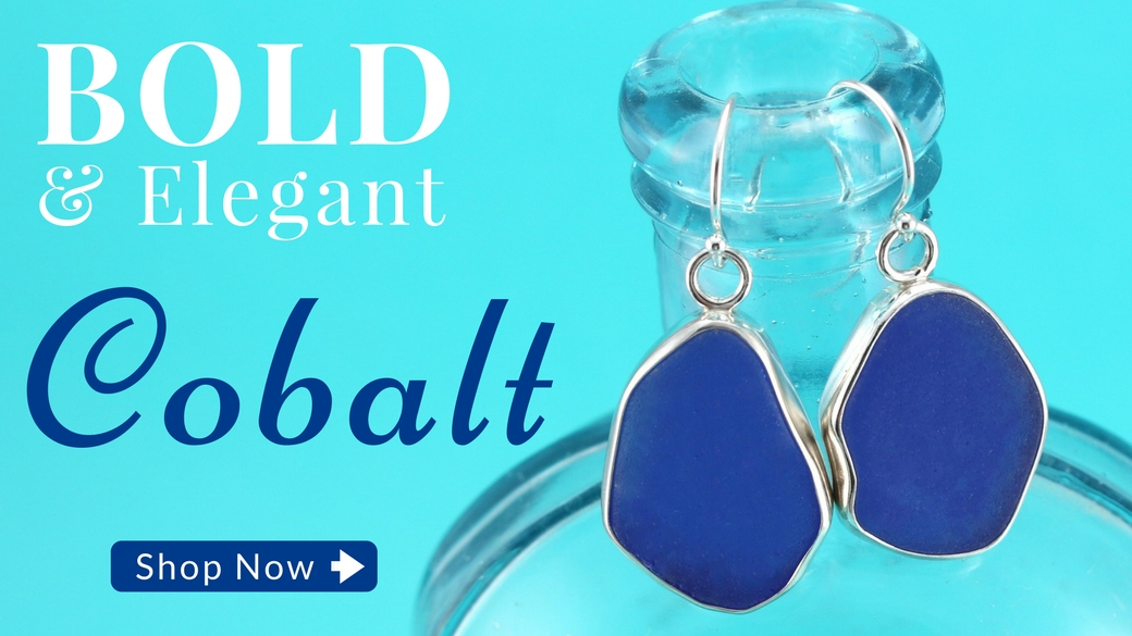 Cobalt Blue Sea Glass Jewelry