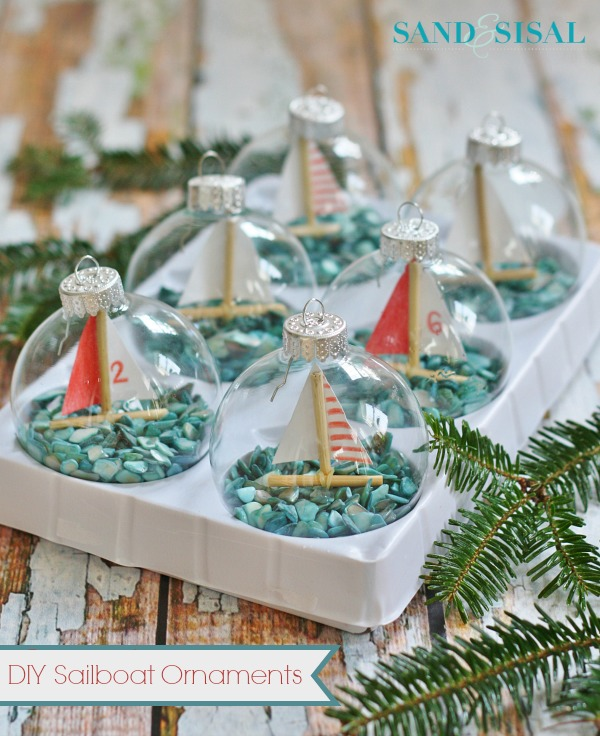 Do It Yourself Sailboat Ornaments Courtesy of Sand&Sisal
