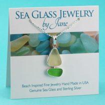 Sea Glass Sailboat Lime Green and Yellow