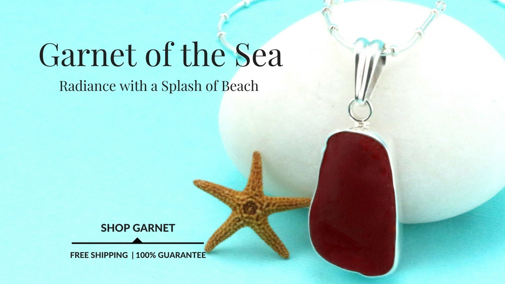 Garnet Red Sea Glass Jewelry