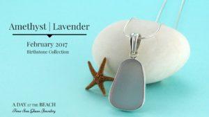 Purple Amethyst Sea Glass Jewelry