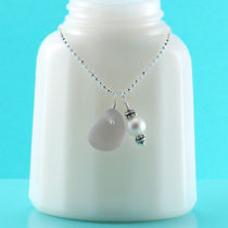Lovely Lavender Mermaid's Tear Necklace. Genuine Sea Glass. Sterling Silver. Quality, Authenticity Guaranteed. Ready For Fast, Free Shipping.