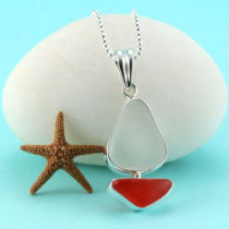 "Come Sail Away With Me! Our ultra rare yellow and orange sea glass pendant bezel set in sterling silver is the quintessential gift for your sea faring sea glass lover. This piece is like no other for someone extraordinary! The sea glass is surrounded by sterling silver to enhance the sailboat shape. It is genuine, beach found and not altered in shape or size. We offer free shipping, free gift wrap and a money back guarantee. The sea glass sailboat pendant comes with a sterling silver, diamond cut bead necklace from Italy. You may choose your necklace length below! We are full time sea glass artists dedicated to bringing you the best quality, natural sea glass creations. Metal: Sterling Silver Bezel, Bail and Necklace Origin of Sea Glass: Yellow Is From Hawaii; Orange Is From United Kingdom Rarity: Yellow is Rare; Orange Is Extremely Rare Birthstone Equivalent: Yellow=Tourmaline, the October Birthstone; Orange=Topaz, the November Birthstone Size of Pendant: Small, 1-1/2"" Long, 5/8"" Wide at its Widest [cc_product sku=""n491"" display=""inline"" quantity=""true"" price=""true""] View All Sea Glass Sailboat Necklaces Here!. Genuine Sea Glass. Sterling Silver."