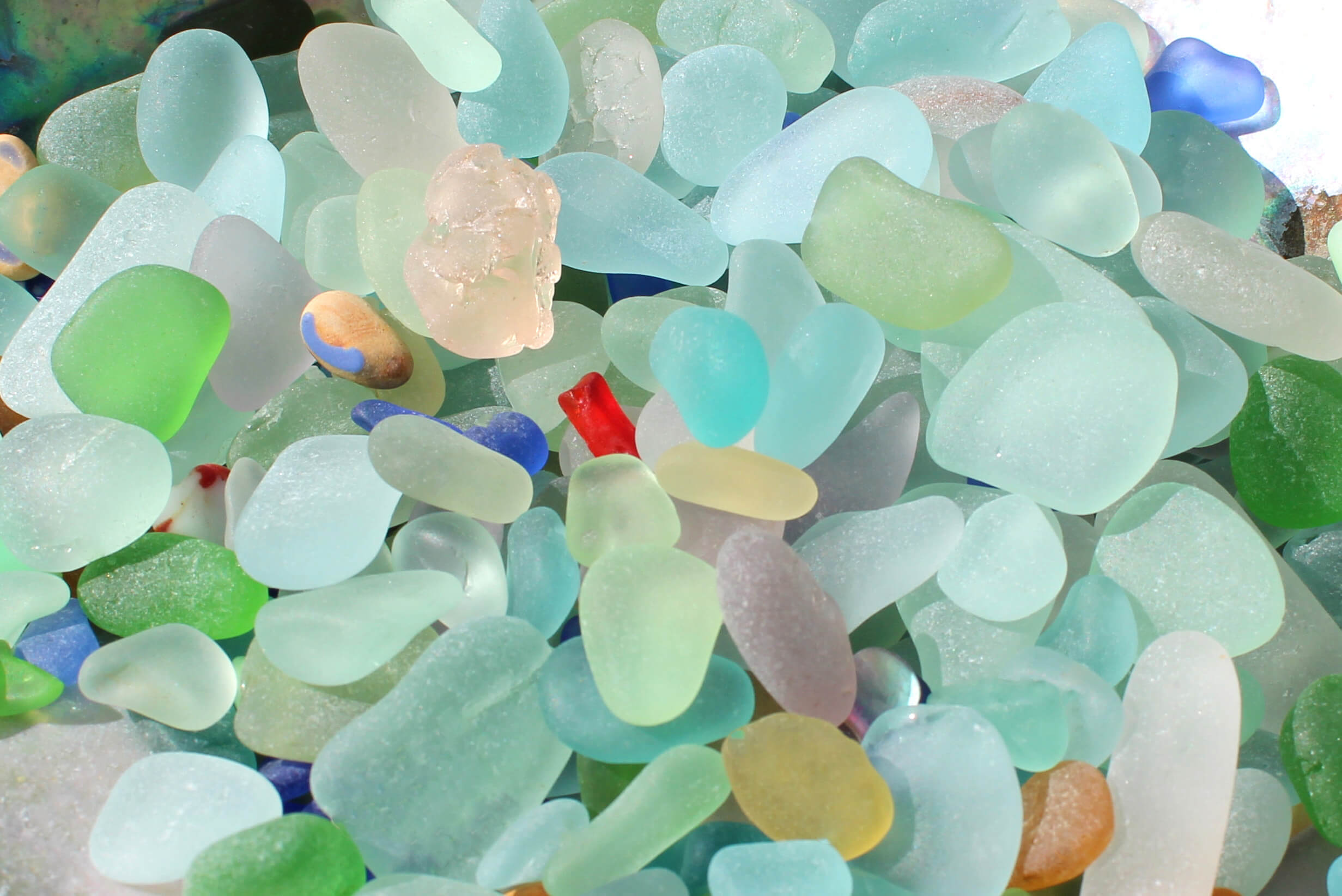 Sea Glass Color Rarity Guide