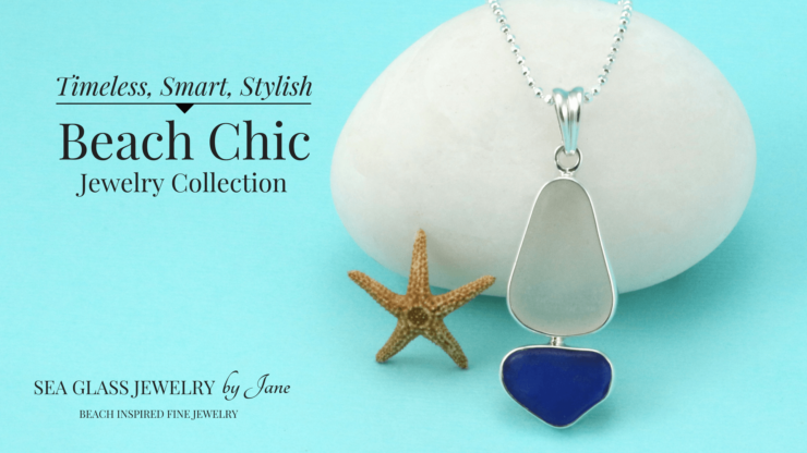 Cobalt Blue and White Sea Glass Sailboat Pendant