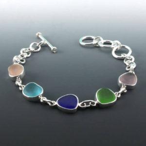 Five Colors Sea Glass Bracelet