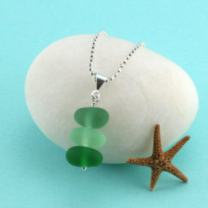 Shades Of Green Sea Gl Pendant