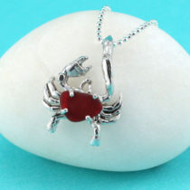 Red Sea Glass Crab Pendant