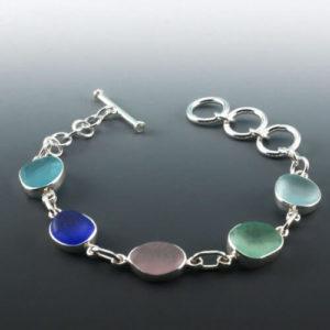 Rainbow of Colors Sea Glass Bracelet