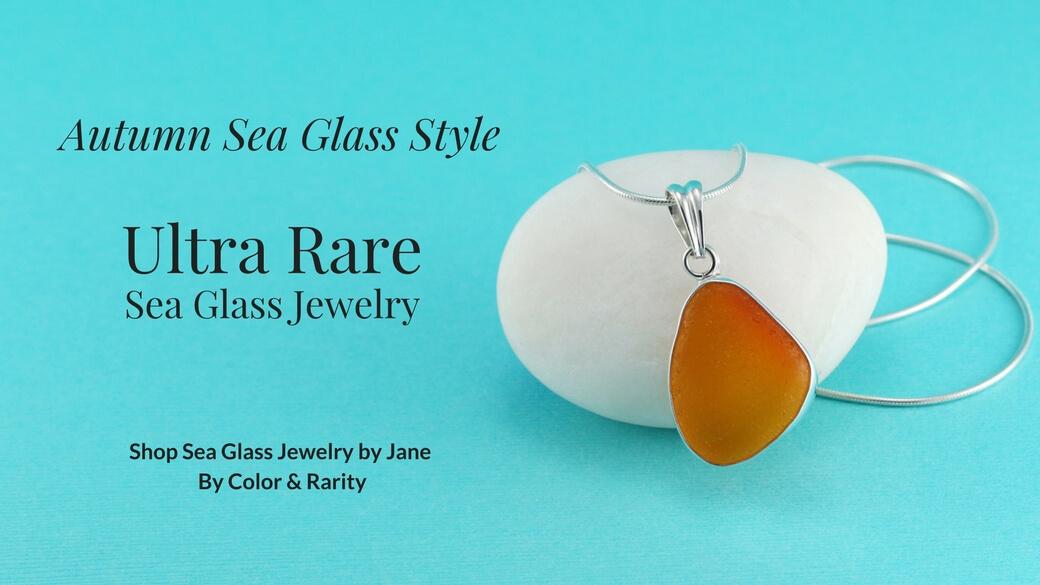 Orange Sea Glass Jewelry Collection