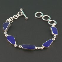 All Cobalt Blue Sea Glass Bracelet