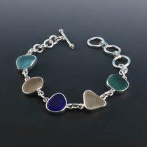 Sleek Five Color Sea Glass Bracelet