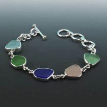 Sea Glass Bracelet of Many Colors