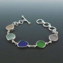 Colorful Rainbow Sea Glass Bracelet