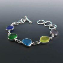 Rainbow Brights Sea Glass Bracelet