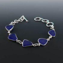 Rich Cobalt Blue Sea Glass Bracelet
