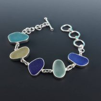 Queen of Sea Glass Bezel Set Bracelet