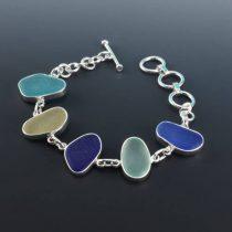 Queen of Sea Glass Bezel Set Bracelet