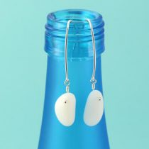 Milk Glass Sea Glass Earrings