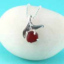 Red Sea Glass Mermaid Tail Pendant/Necklace