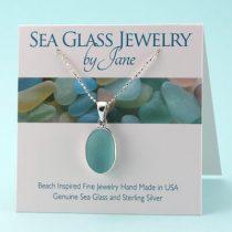 Prettiest Aqua Sea Glass Pendant