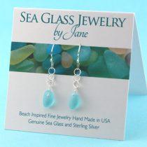 A+ Aqua Sea Glass Earrings