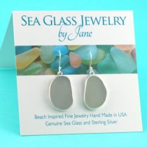 Shades of Gray Sea Glass Earrings