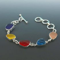 Sea Glass Brights Bezel Set Bracelet