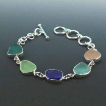 Stellar Five Color Sea Glass Bracelet