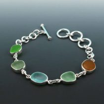 Colors of Nature Sea Glass Bracelet