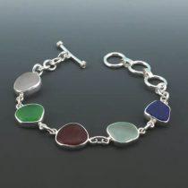 Sassy Five Color Sea Glass Bracelet