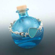 Aqua Sea Glass Mermaid Bracelet