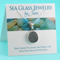 Rare Gray Sea Glass Necklace