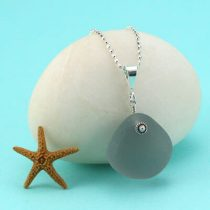 Shades of Gray Sea Glass Necklace