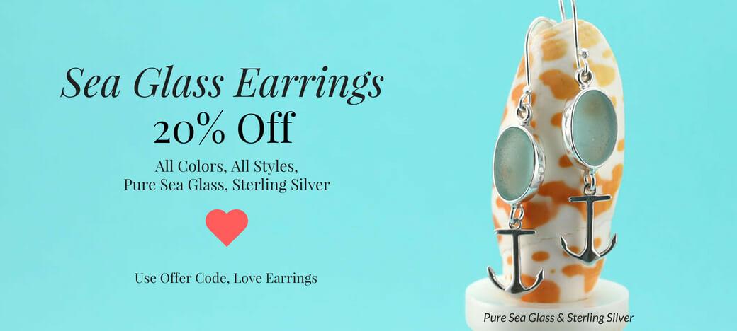 Sea Glass Earrings Sea Glass Jewelry by Jane