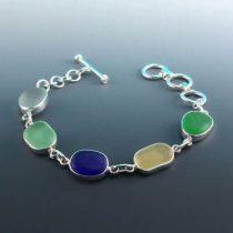 Sunny Days Sea Glass Bezel Set Bracelet