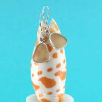 Pretty Pink Sea Glass Bezel Set Earrings