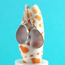 Luxurious Lavender Bezel Set Sea Glass Earrings