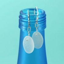 Wonderful White Sea Glass Earrings