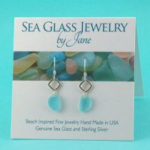Awesomely Aqua Sea Glass Earrings